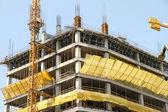 Chantier de construction d'un gratte-ciel à santiago du chili — Photo