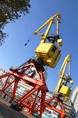 Crane in Puerto Madero — Stock fotografie