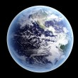 Earth - Isolated on Black - Stock Photo