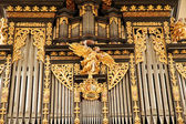 Ancient Organ pipes in the Cathedral of Kaisheim — Stock Photo