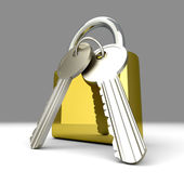 Padlock with Keys — Foto Stock