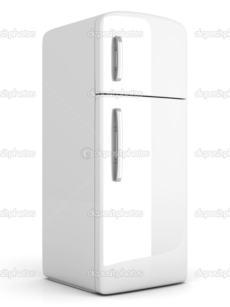 A classic Fridge. 3D rendered Illustration. Isolated on white. — Stock Photo #10428578
