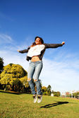 Jumping in the Park — Foto Stock