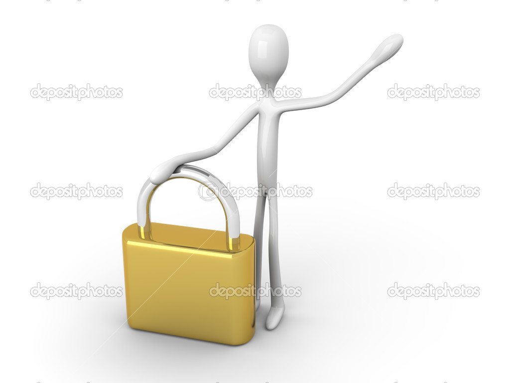 Security granted. 3D rendered illustration.  Stock Photo #7973658
