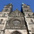 Cathedral St. Lorenz of Nuremberg — Foto de Stock
