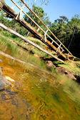 Ponte sobre um rio na bahia — Foto Stock