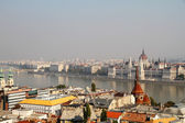Smog over Budapest — Stock Photo