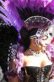 Drag queen op de homoseksuele parade in sao paulo — Stockfoto