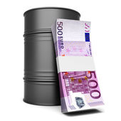 Euros and Oil — Stock Photo