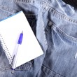 Notes on Jeans — Stock Photo