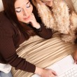 Stock Photo: Friends planning winter Holidays