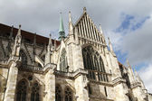 Architecture of the Cathedral of Regensburg — Stock Photo