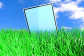 Tablet PC in the Grass — Stock Photo