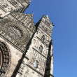 Cathedral St. Lorenz of Nuremberg - Stockfoto
