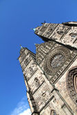Cathedral St. Lorenz of Nuremberg — Stock Photo