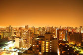 Nightly panorama of Santiago de Chile — Stock Photo