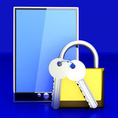 Secure Tablet PC — Stockfoto