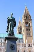 Katedra w pecs — Zdjęcie stockowe