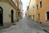 Street in the center of Regensburg — Stock Photo