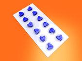 Amour bleu pilules — Photo