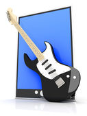 Music Tablet PC — Stock Photo