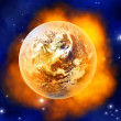 Burning Earth — Stock Photo