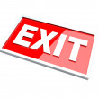 Exit Sign — Stock Photo #9902963