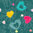 Valentine pattern with love hearts , vector. — Stock Vector
