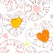 Vector seamless pattern with hearts — ストックベクタ