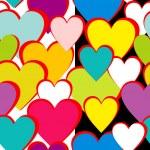 情人节图案用爱的心,矢量 — 图库矢量图片