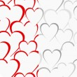 Valentine pattern with love hearts , vector. — Vettoriale Stock