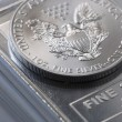 Stock Photo: Silver Coin Bullion