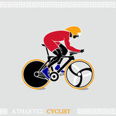 Athlete Cyclist — Stock Vector