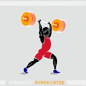 Athlete Power lifter — Stock Vector