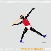 Athlete Javelin thrower — Stock Vector