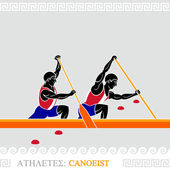 Canoista de atleta — Vetor de Stock