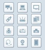 Office electronics icons | TECH series — Stock Vector