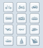 Transportation icons | TECH series — Stockvector