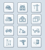 Construction icons | TECH series — Stockvektor