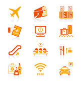 Airport icons | JUICY series — Stockvector
