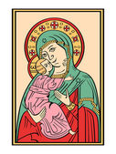Icon of the Mother of God — Stock Vector