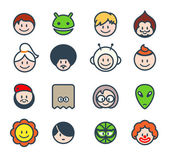 Social characters — Stock Vector