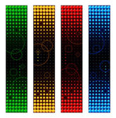 Space banners — Stock Vector
