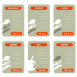 Meal calorie cards — Stock Vector #9198887