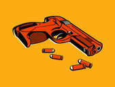 Retro gun — Stock Vector