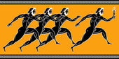 Corridori greci — Vettoriale Stock