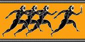 Yunan koşucu — Stok Vektör