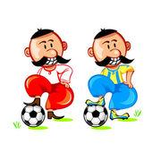 Soccer ukrainian player — Stock Vector