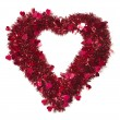 Heart Shaped Shiny Tinsel with Small Hearts — Stock Photo