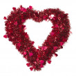 Heart Shaped Shiny Tinsel with Small Hearts - Stock Photo